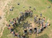 第十四届澳门中学生军事夏令营闭营