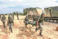 武警某部卫勤力量跨区基地化演练锤炼保障尖兵
