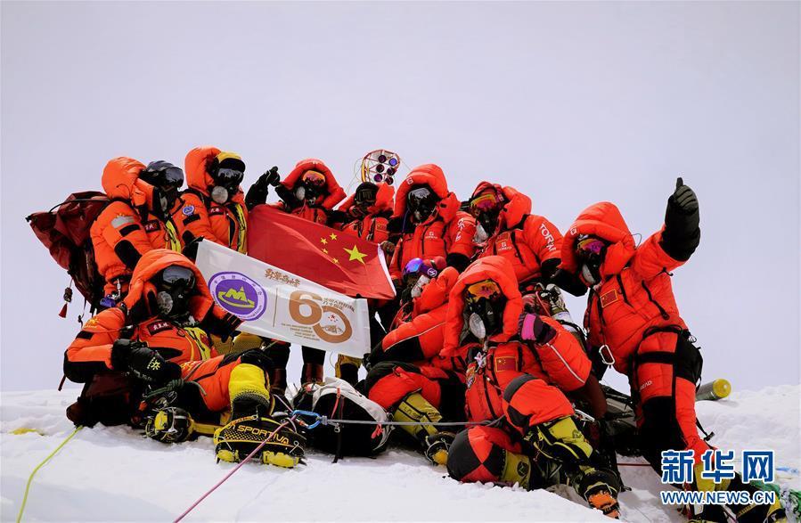 (2020珠峰高程测量)(3)独家照片:世界之巅 勇者为峰
